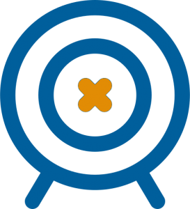 arrows target blue and orange