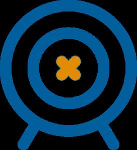 arrows target blue and orange